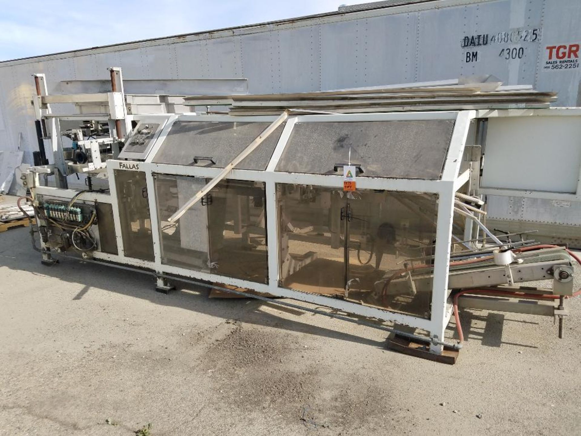 blower diverter with frame, aluminum mezzanine, steam washer, and Fallas cartoner - Image 4 of 13