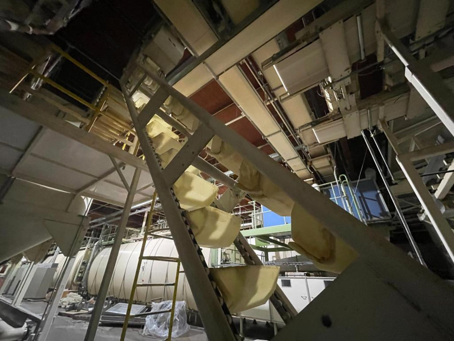 1992 Aseeco overlapping bucket incline conveyor, model ALH-0-12, Z-shape - Image 10 of 11