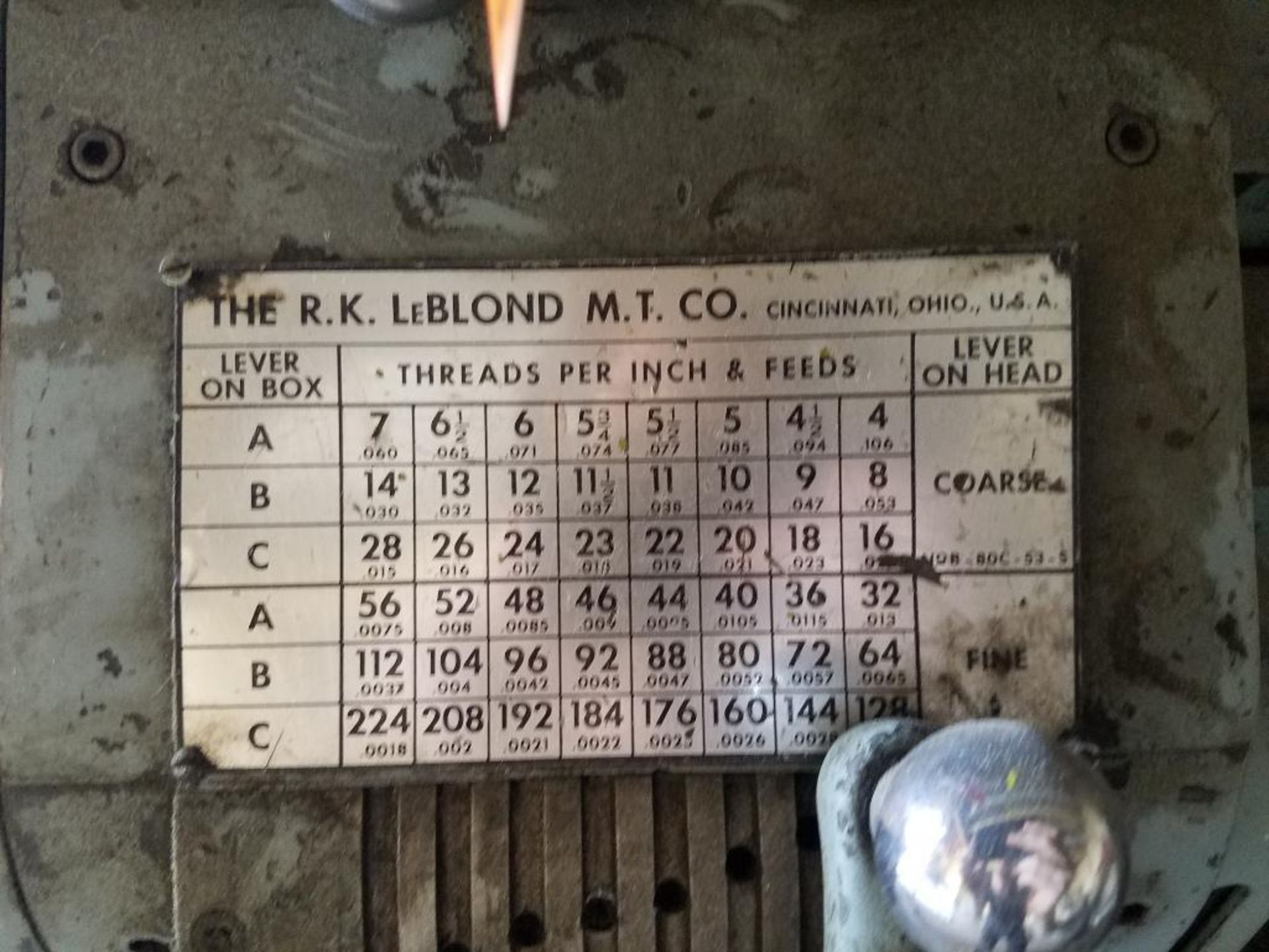 LeBlond Regal lathe - Image 3 of 10