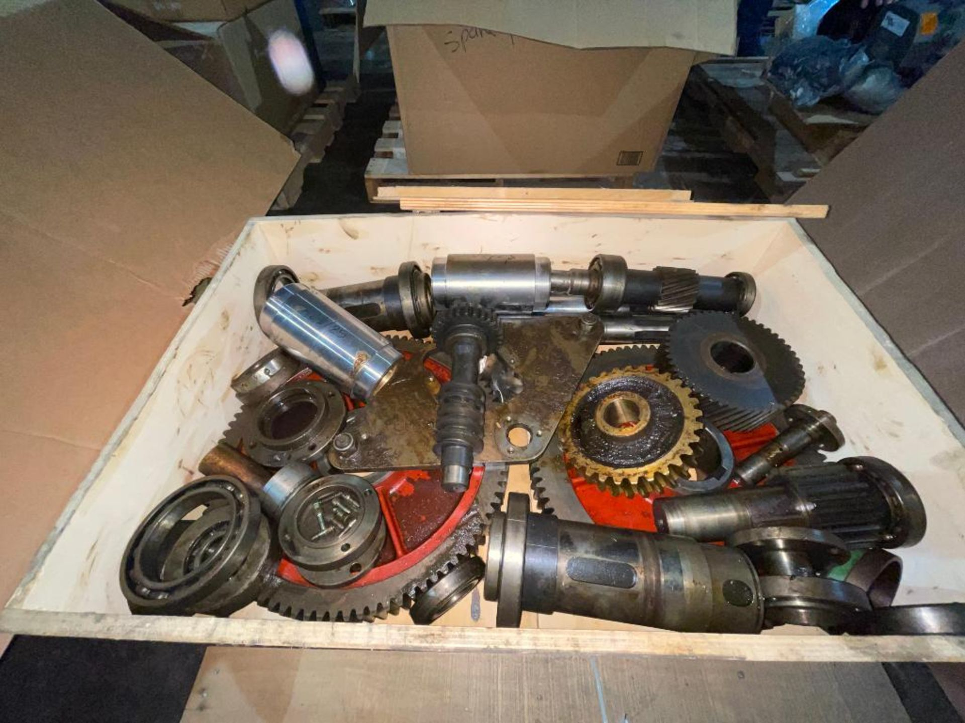 pallet with gears and bearings