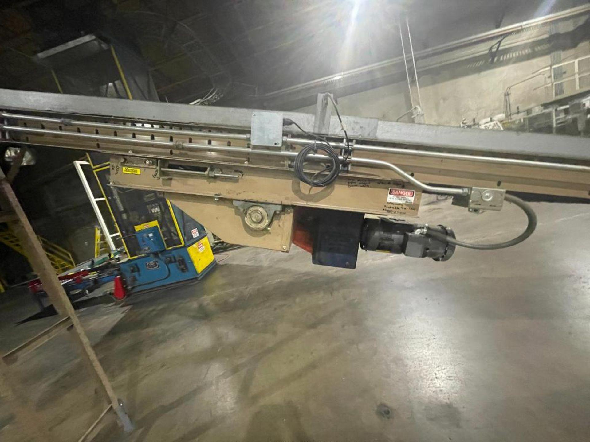 Mathews mild steel incline conveyor - Image 3 of 10