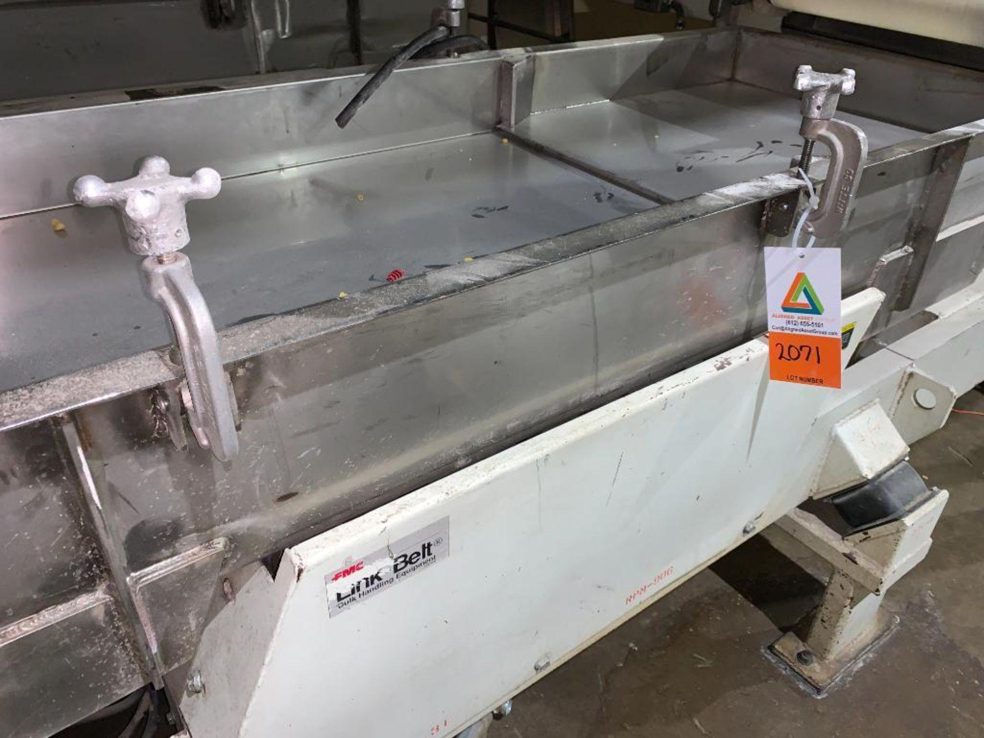 1993 Link-Belt stainless steel vibratory scalping conveyor - Image 2 of 10