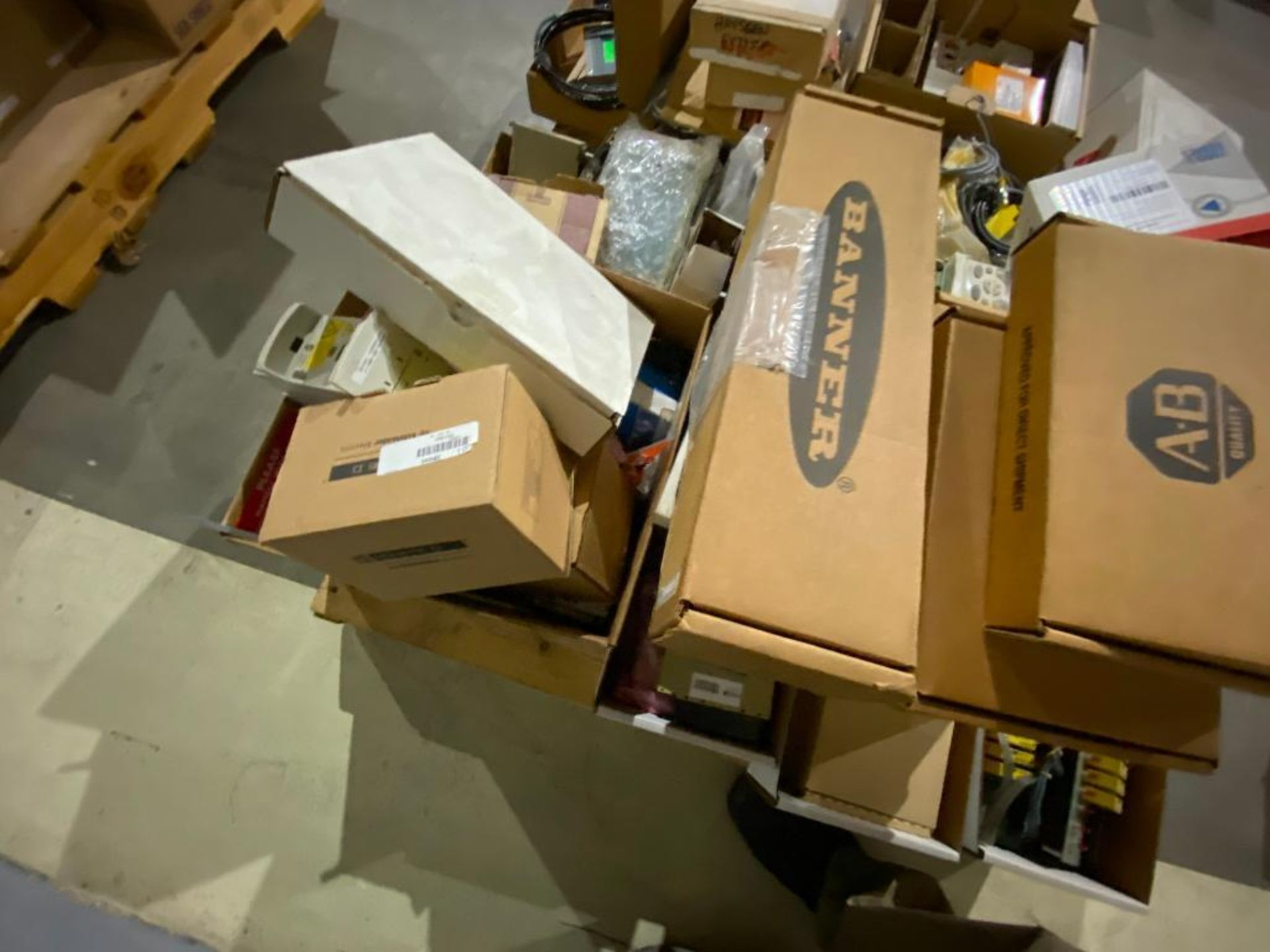 pallet of ABB parts, controllers, cabinets, and control boards - Image 6 of 8