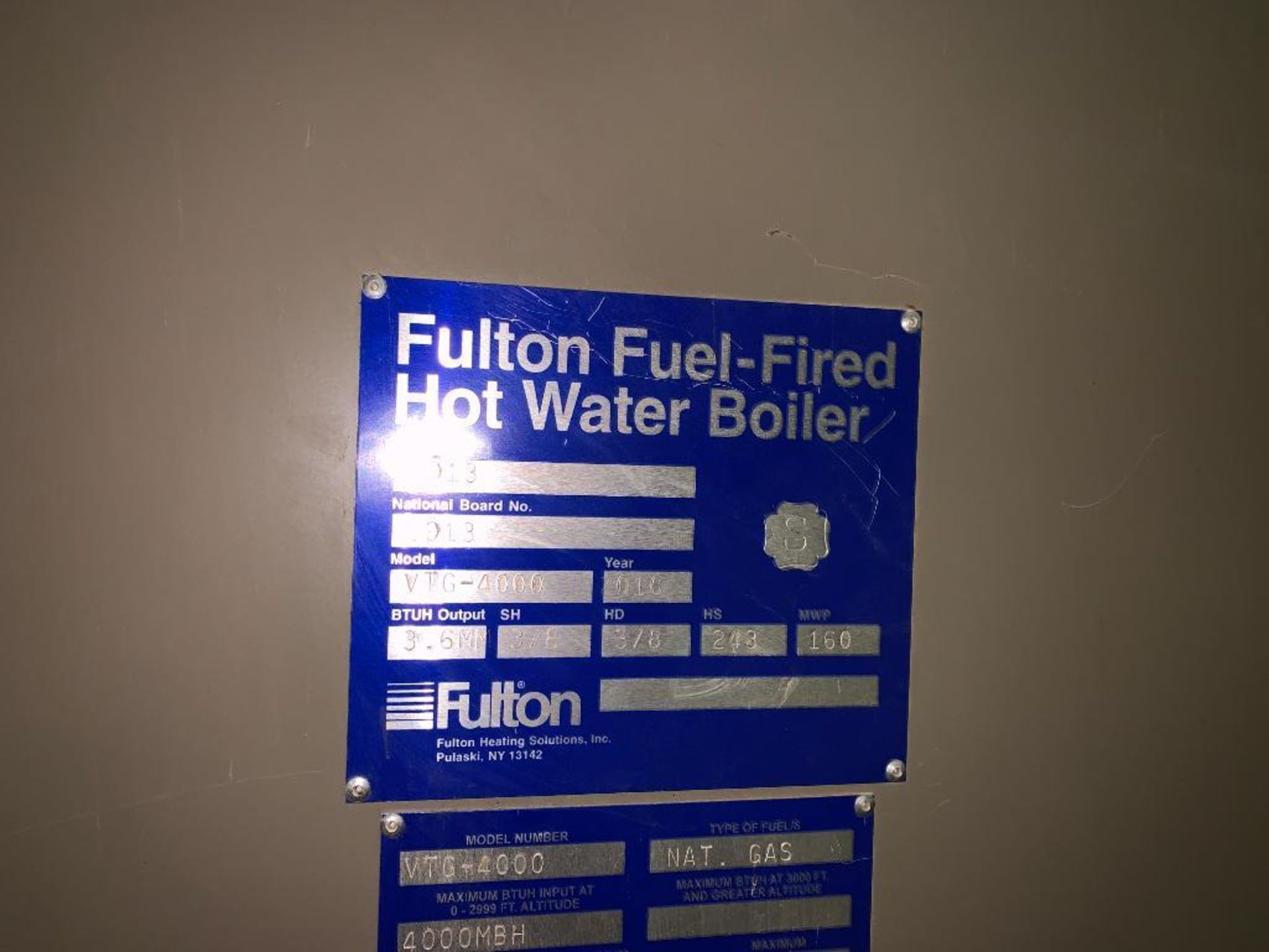 2010 Fulton fuel fired hot water boiler - Image 13 of 15
