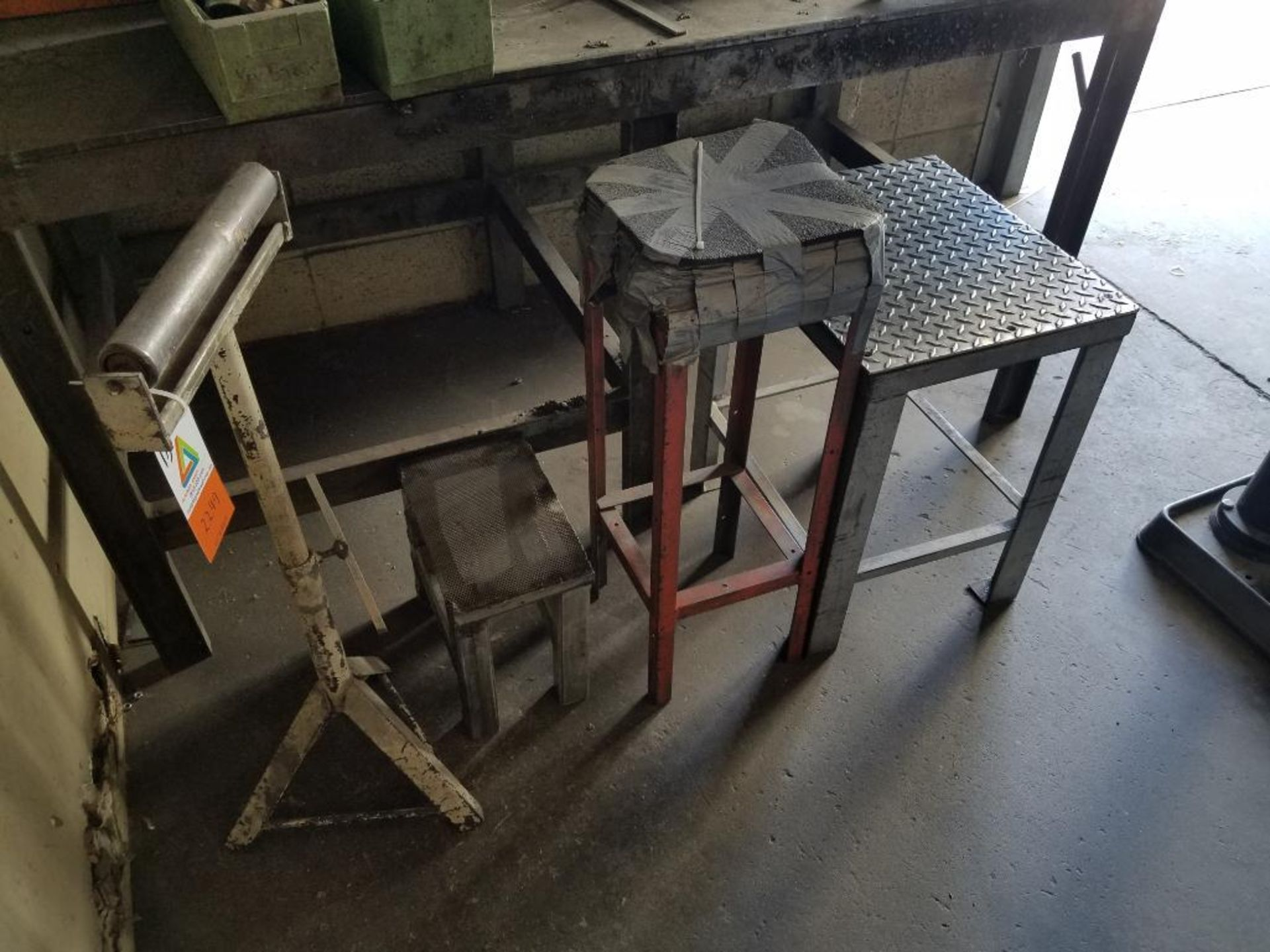 materials stand, stool, two tables - Image 2 of 2