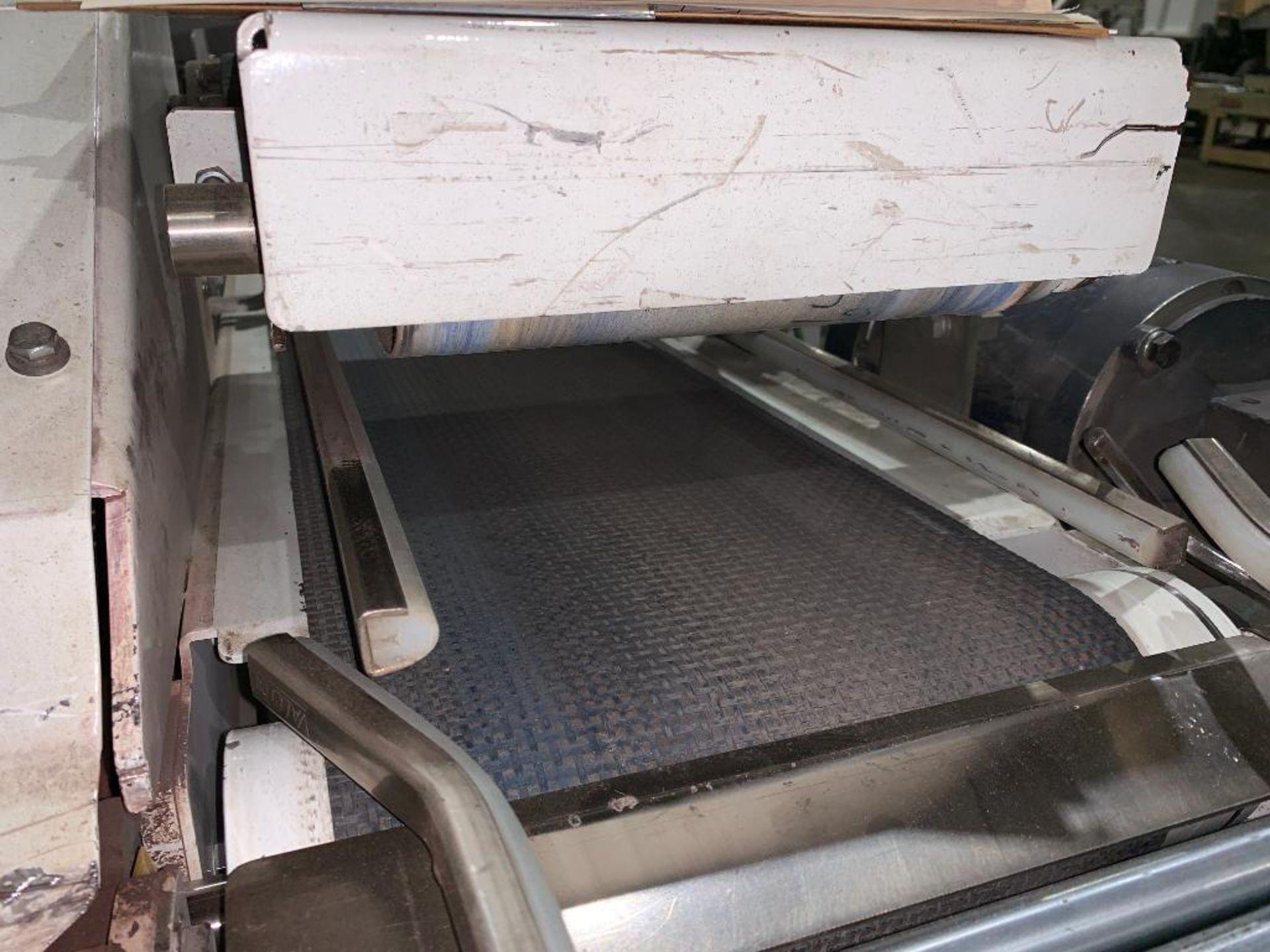 mild steel belt conveyor, 68 in. x 10 in., with box conditioner - Image 8 of 13
