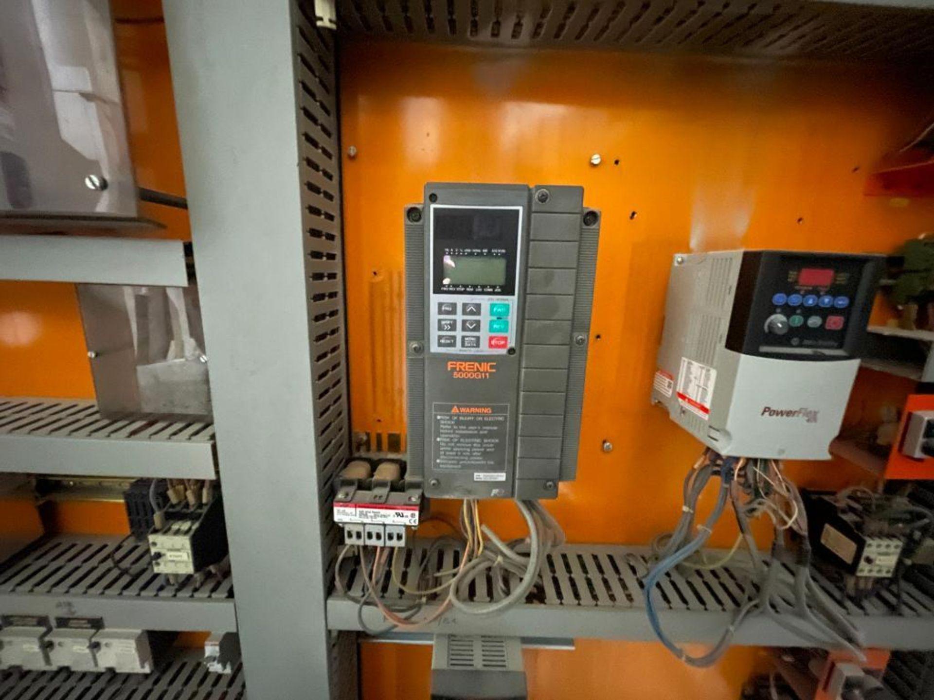 7-door mild steel air conditioned control cabinet, 5-VFD's - Image 21 of 43