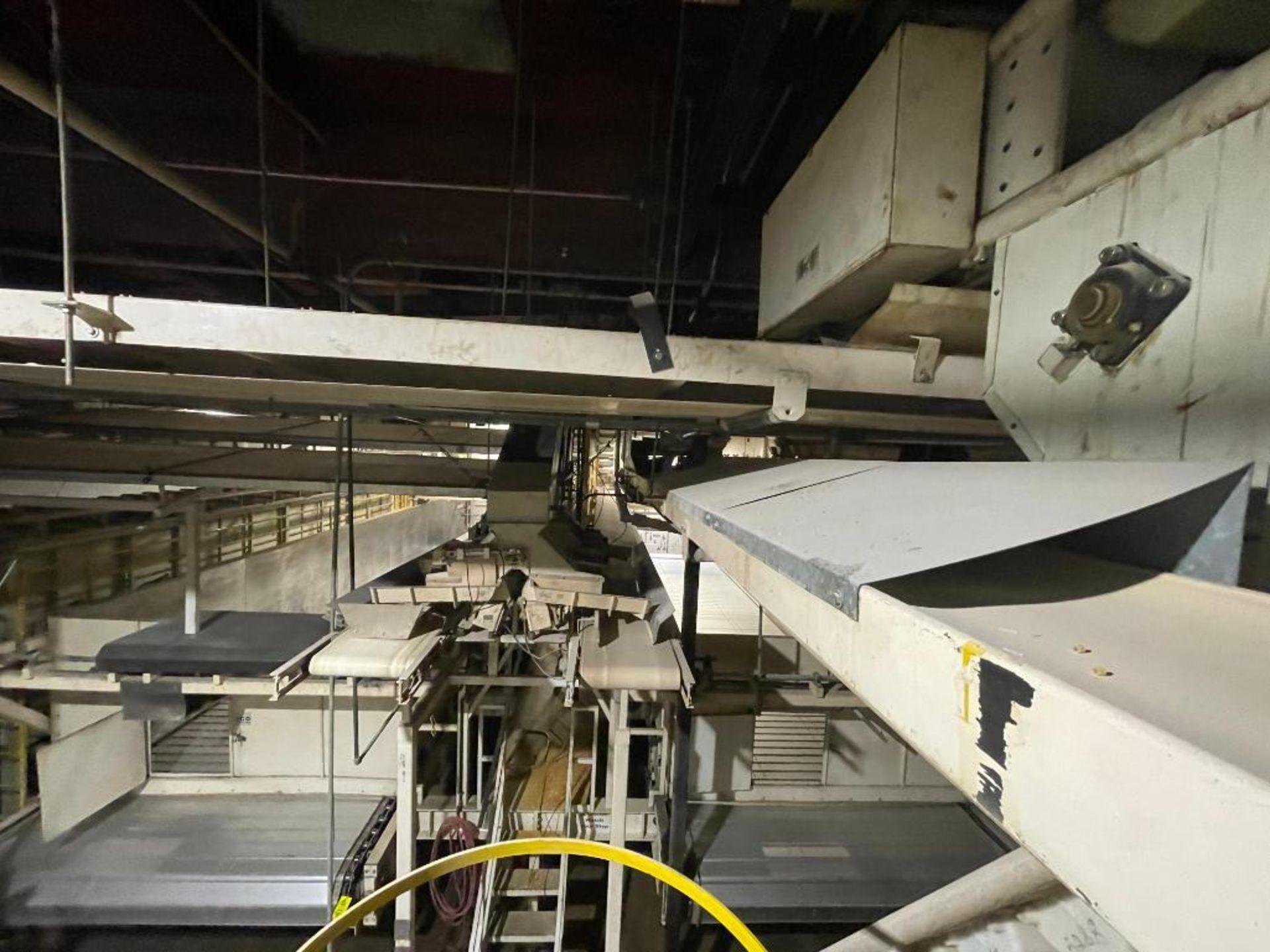 2 Aseeco horizontal overhead mild steel belt conveyors - Image 9 of 9