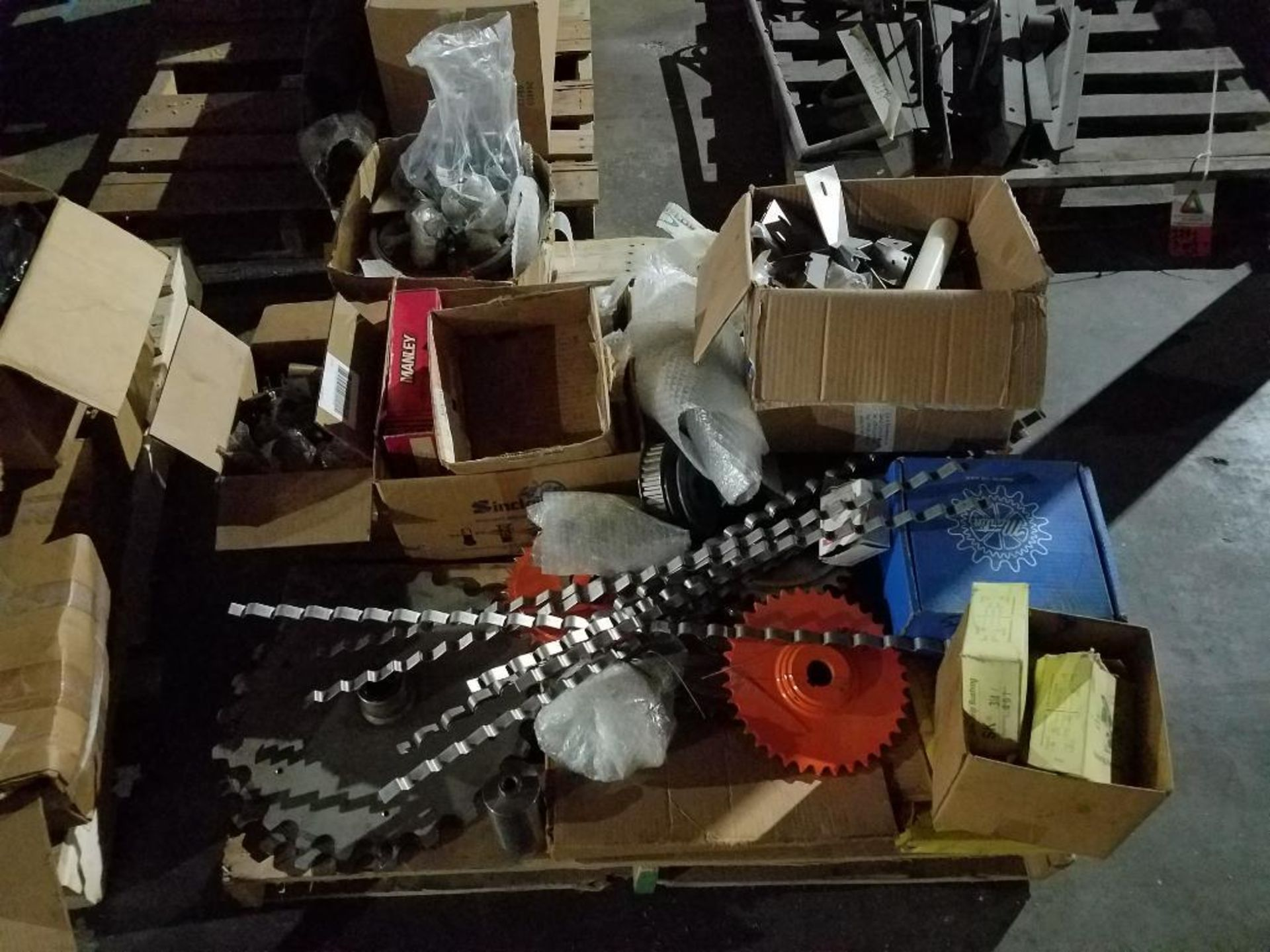 various replacement parts, chains, pulleys, gears, and sprockets - Image 3 of 3
