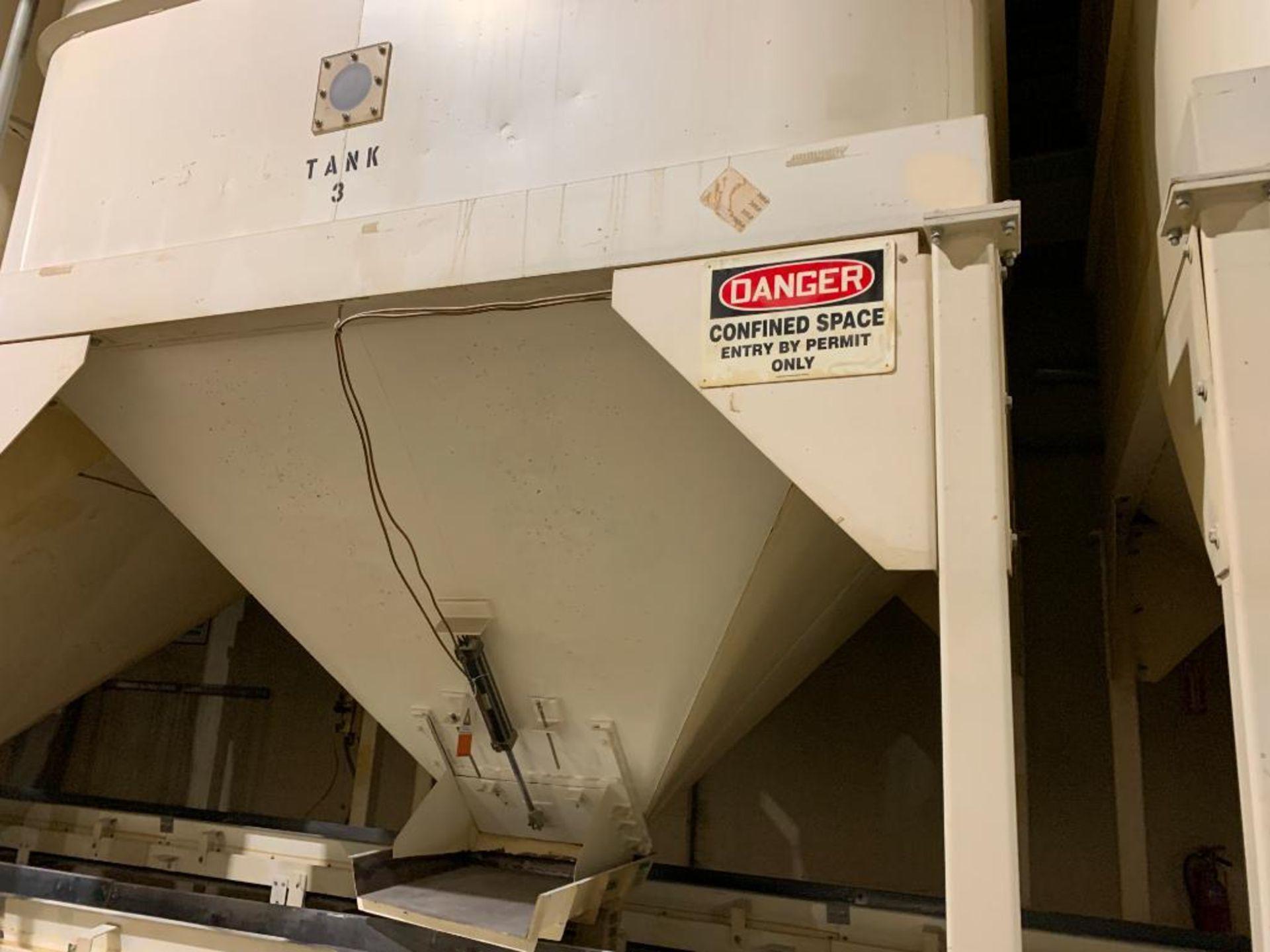 Aseeco mild steel cone bottom bulk storage bin - Image 17 of 22