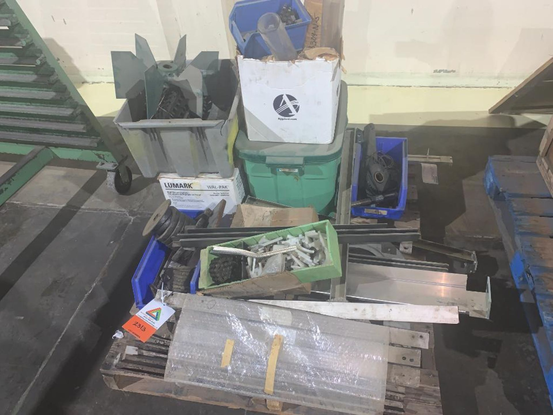 pallet of various parts
