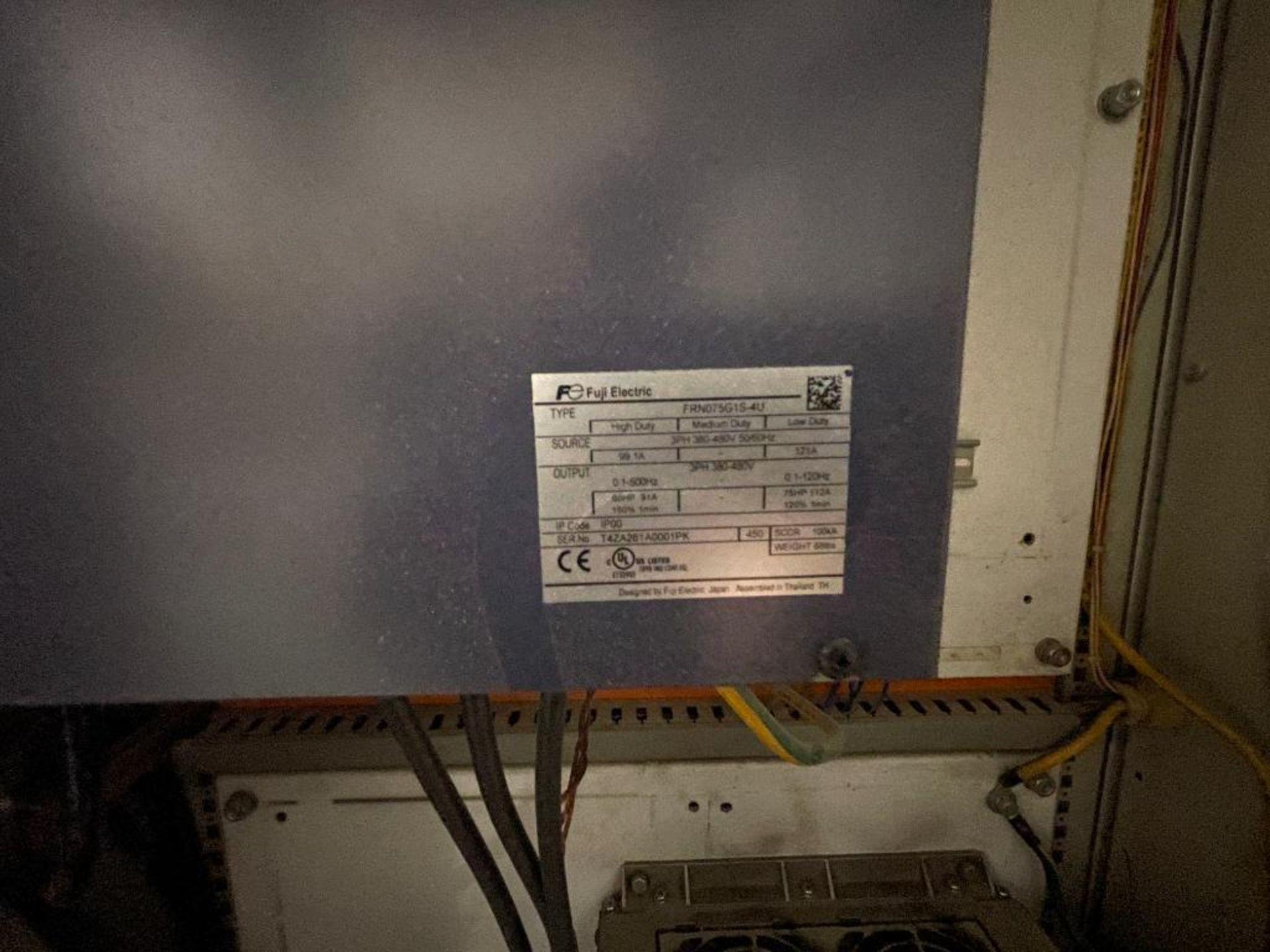 7-door mild steel air conditioned control cabinet, 5-VFD's - Image 8 of 43