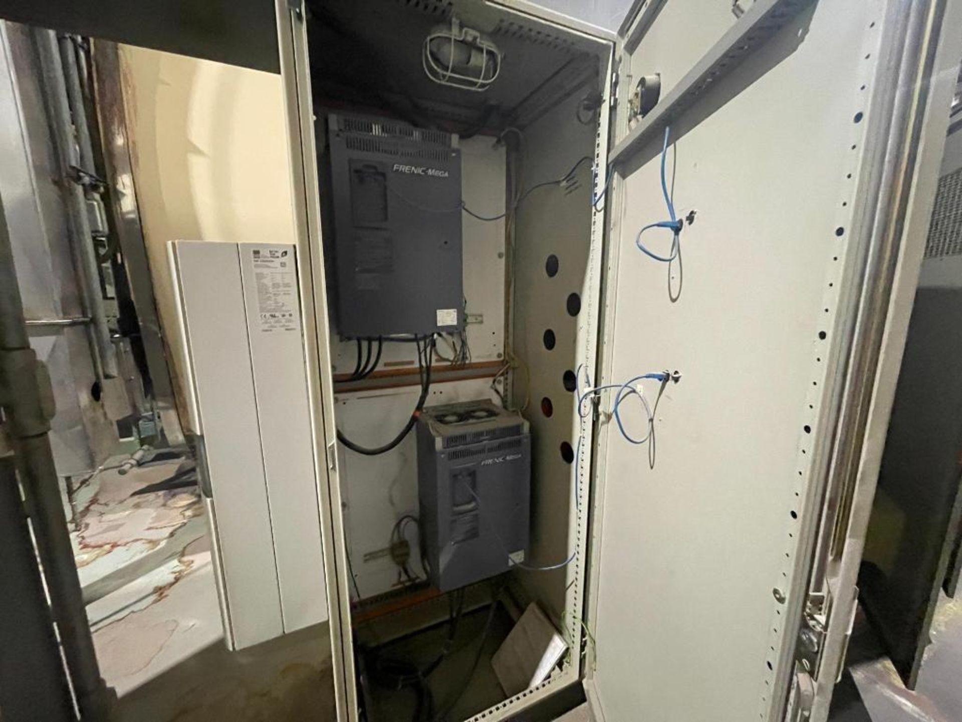 7-door mild steel air conditioned control cabinet, 5-VFD's - Image 5 of 43