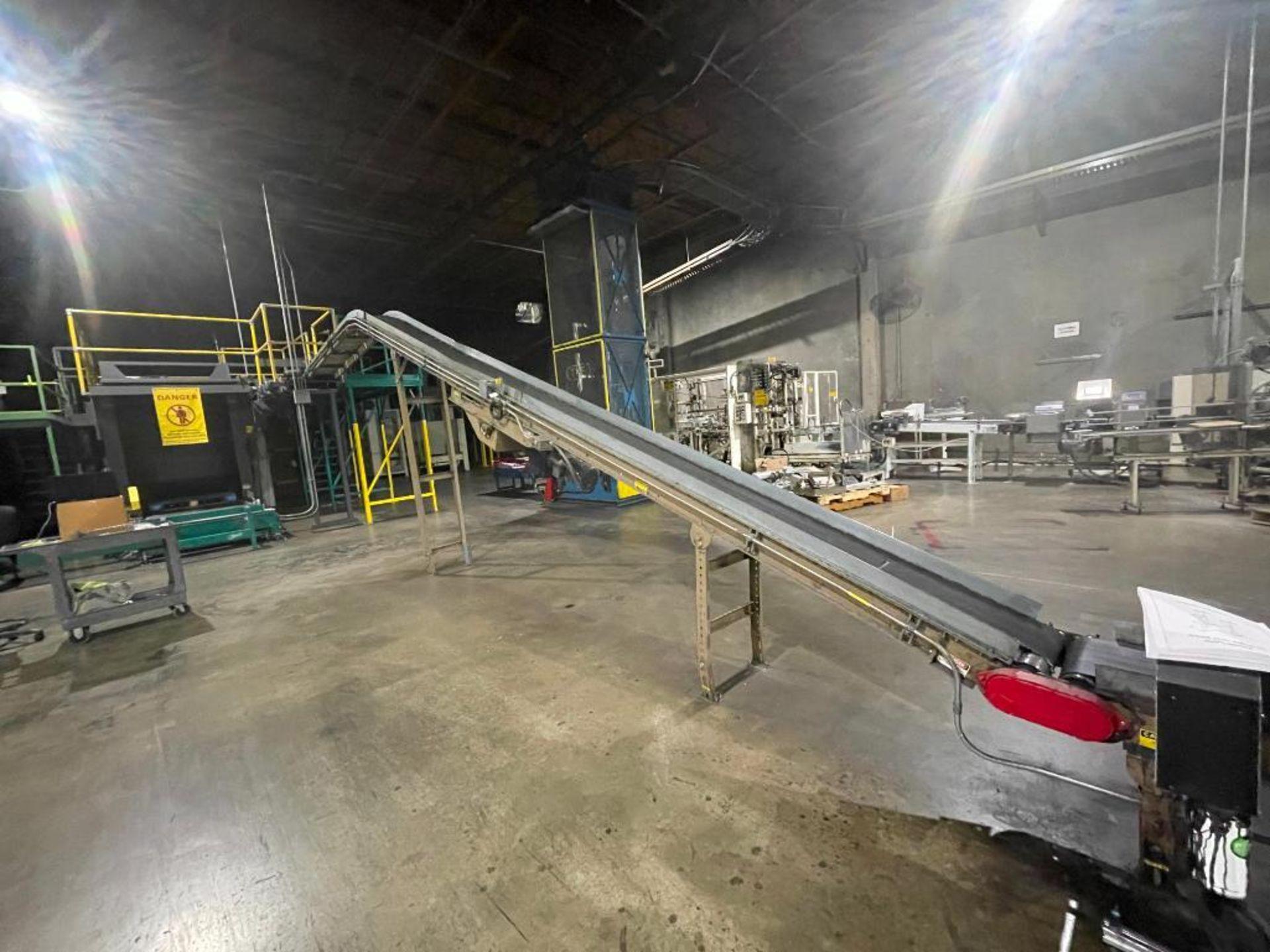 Mathews mild steel incline conveyor