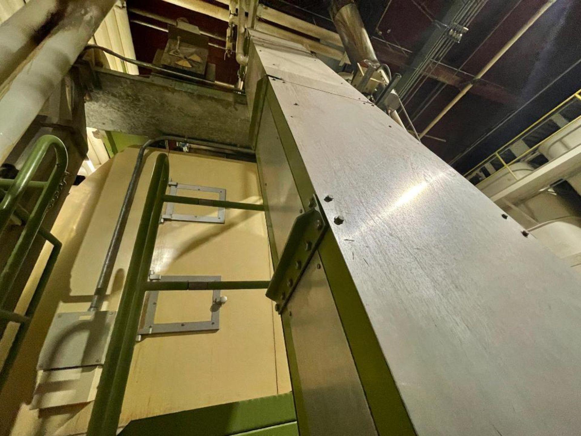 mild steel incline overlapping bucket conveyor - Image 7 of 14
