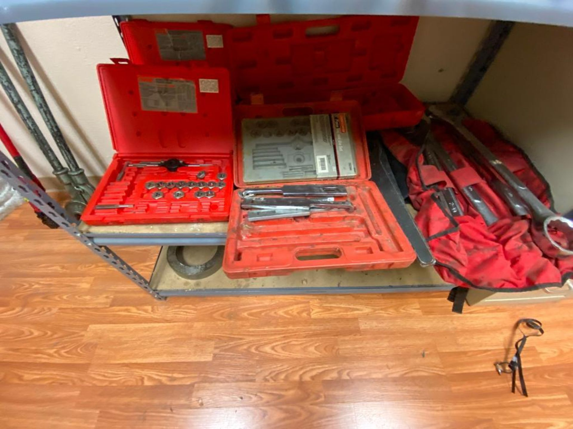 various tools includes bits, large wrenches, lockout tagout kit, grinder - Image 12 of 18