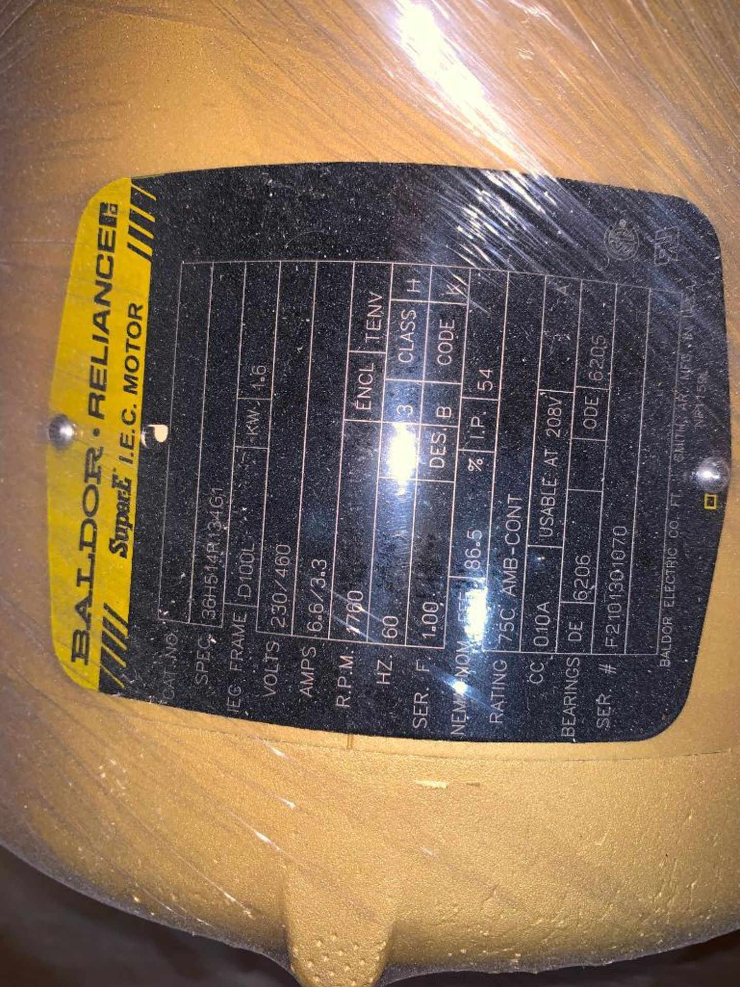 (3) unused Baldor electric motors - Image 7 of 7