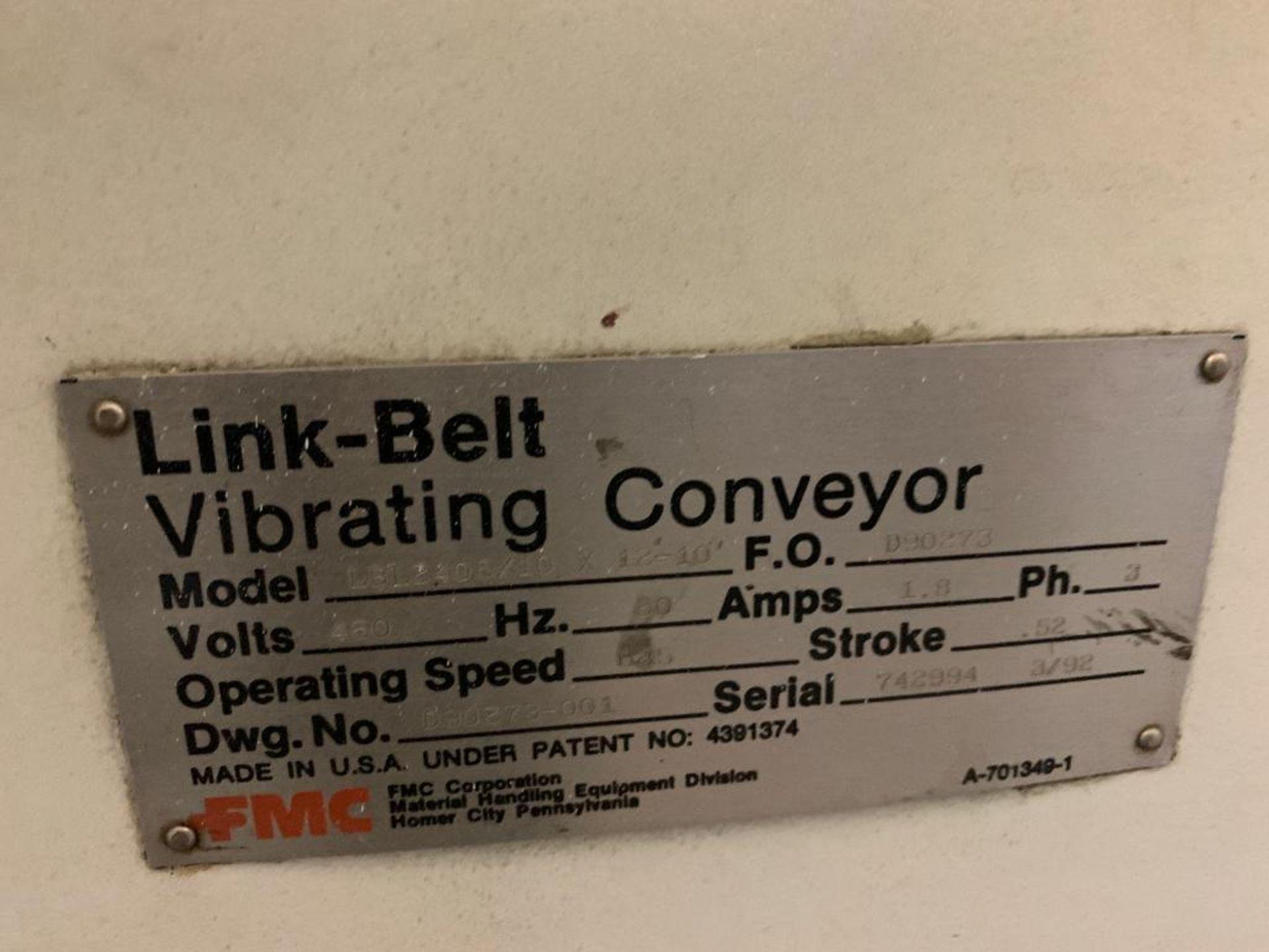 1992 Link-Belt vibratory conveyor, model LBL2405-10X12-10 - Image 19 of 34