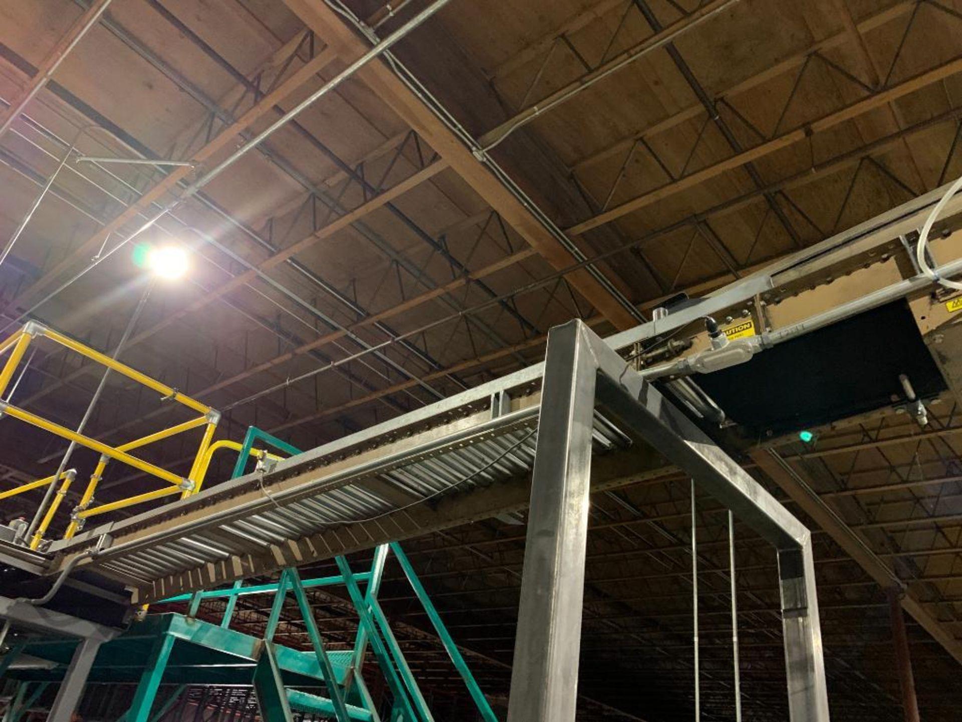 mild steel powered belt conveyor, decline - Image 14 of 14