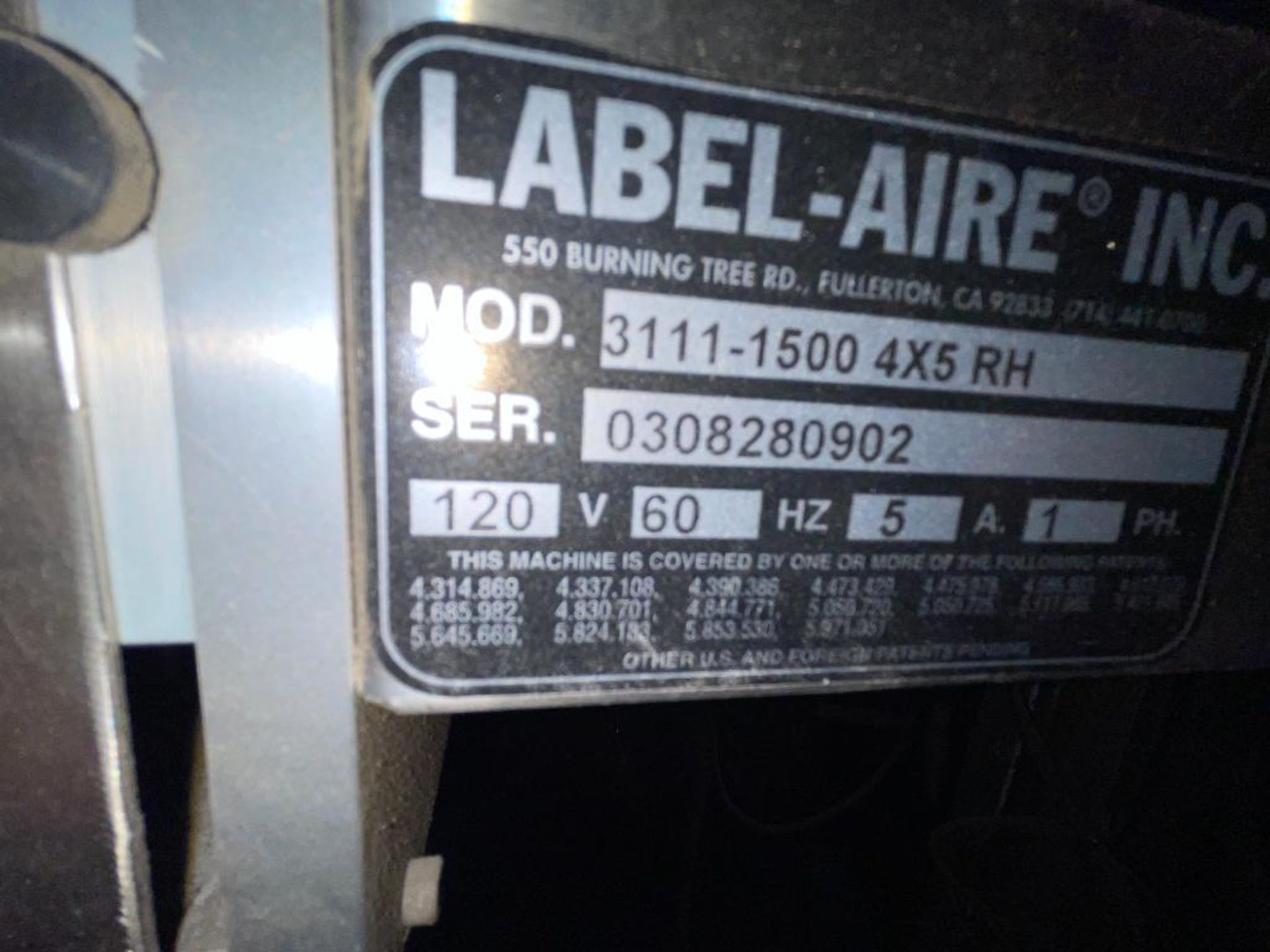 Label-Aire labeler - Image 5 of 10