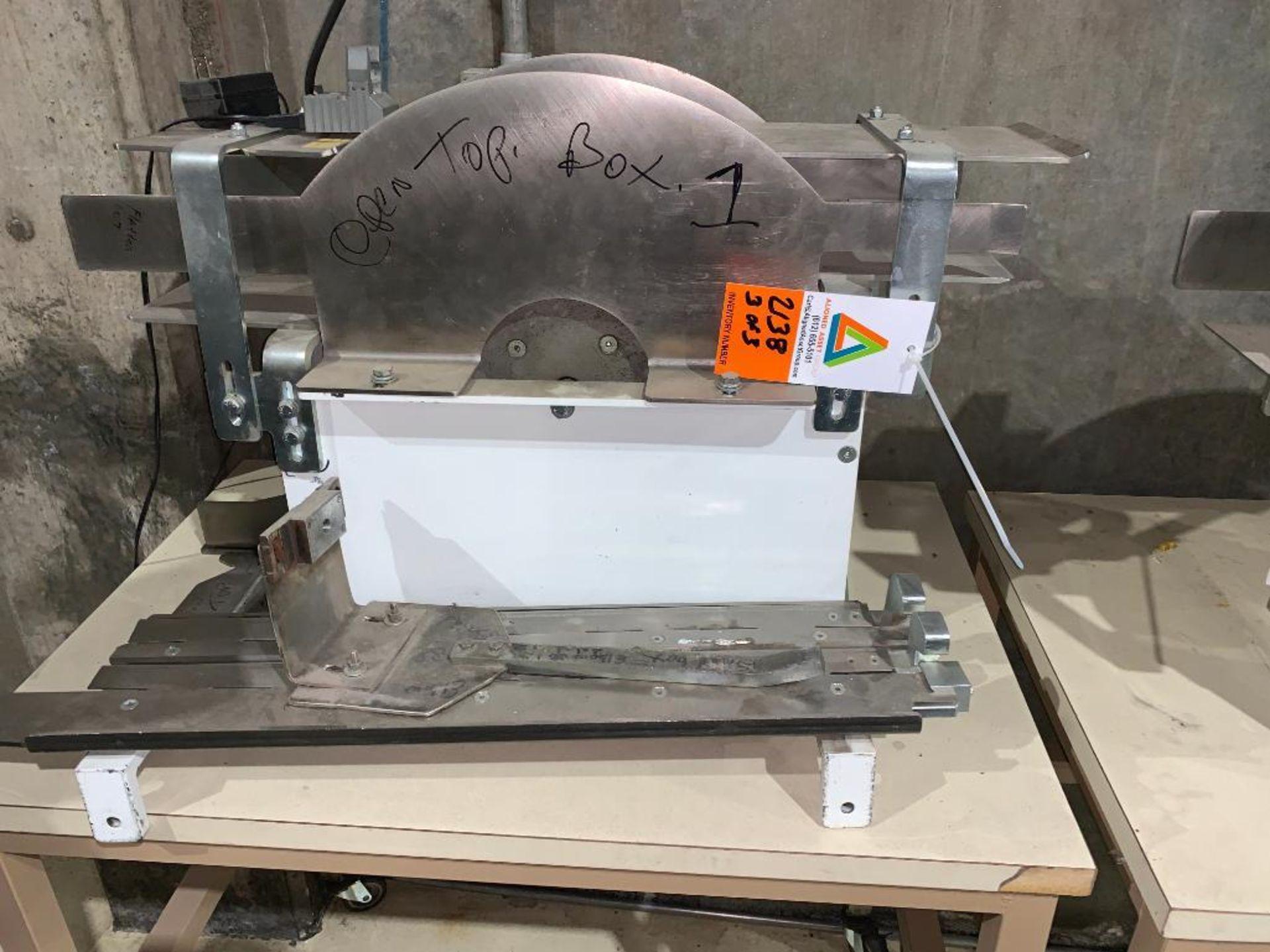 mild steel belt conveyor, 68 in. x 10 in., with box conditioner - Image 11 of 13