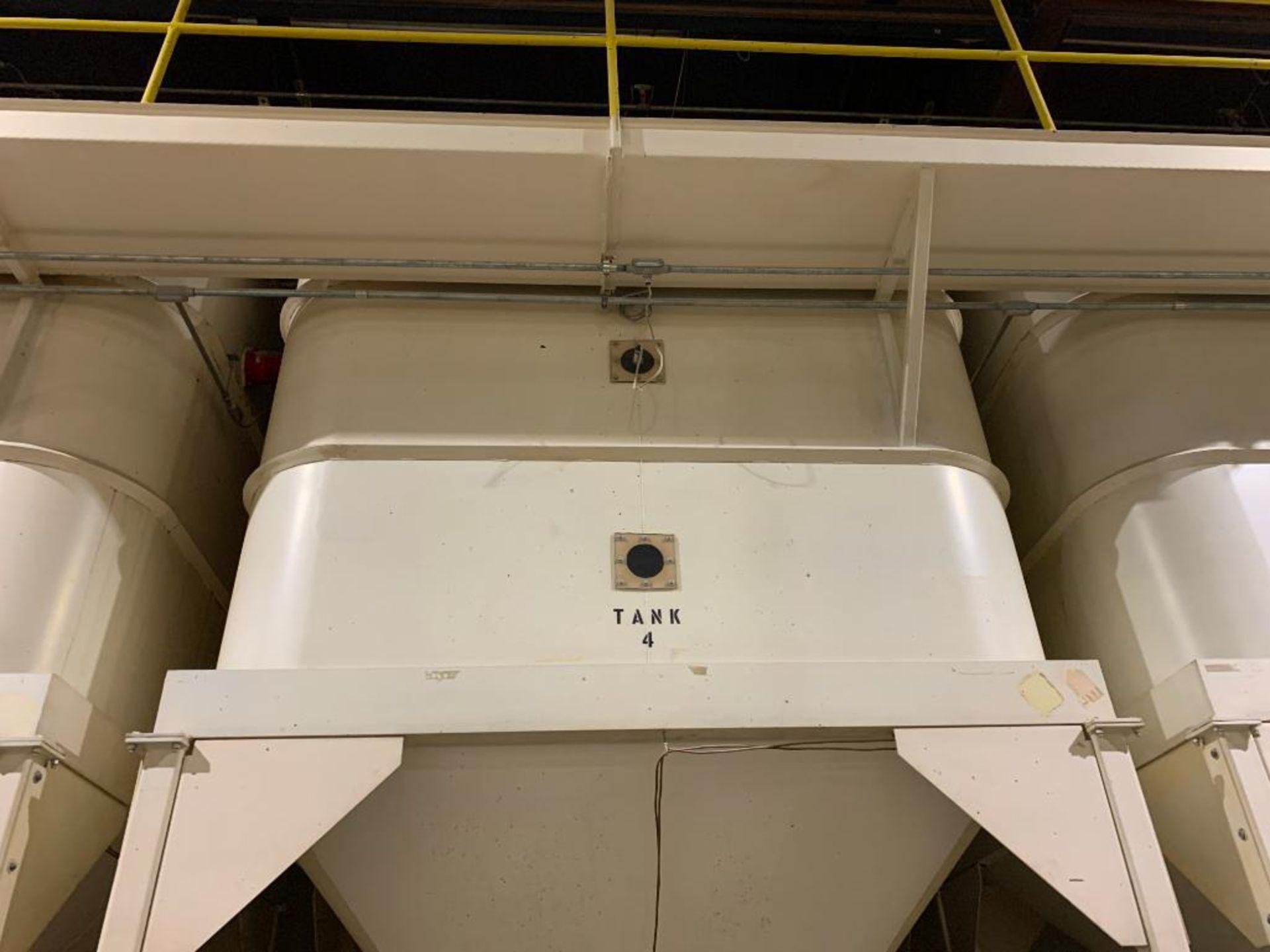 Aseeco mild steel cone bottom bulk storage bin - Image 2 of 25