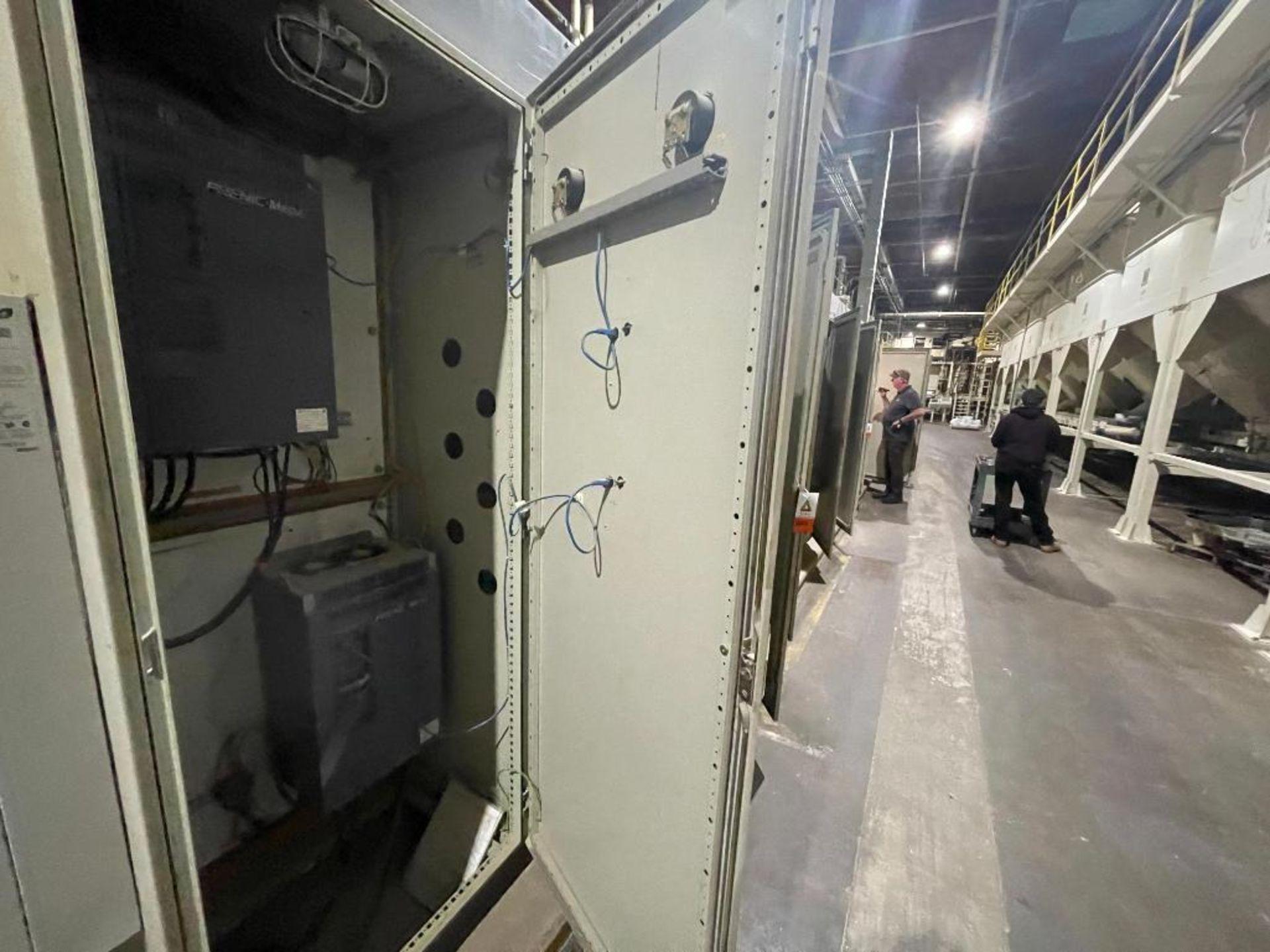 7-door mild steel air conditioned control cabinet, 5-VFD's - Image 6 of 43