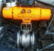 Samson 3310-06 stainless steel 6 in. segmented air operated b valve, v-b