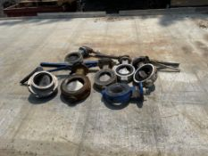 (7) hand operated butterfly valves