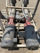 (2) Tonkaflo pumps stainless steel l8504G-7080 with control panel