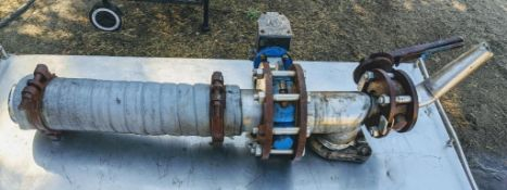 hand operated butterfly valve with air operated butterfly valve