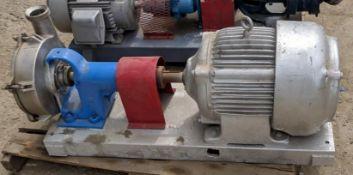 Cherry-Burrell stainless steel tri-clover bow tie pump