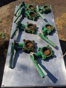(7) 3 in. butterfly valves