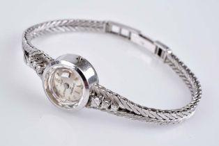 OREX Brillant-Damenarmbanduhr Elegante Uhr 750 WG, Ziffernblatt mit silberfarbenen Str