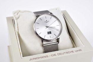 Junghans Herren Funk Uhr Milano Die deutsche Uhr, in puristischem Design, Edelstahlge