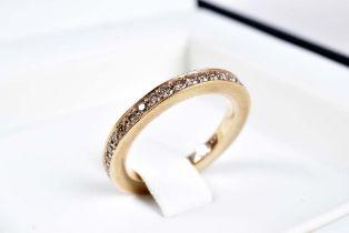 """NOOR Ring Memoire NOOR EXCLUSIVE """"Feel the Diamonds"""" 750 Rotgold, rundum besetzt mit B"""