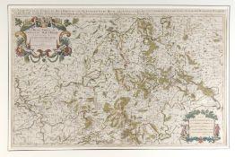 """Landkarte """"La basse partie du cercle du Haut Rhein"""""""