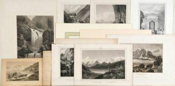Schweizer Ansichten, 12 Stück