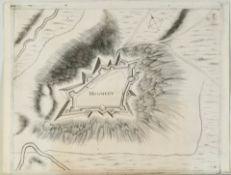 Montmédy (Monmedy), Ansicht der Festung aus der Vogelschau