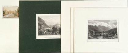 Schweizer Ansichten, 5 Stück