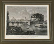 Rom, Blick auf die Engelsburg mit Tiber-Brücke