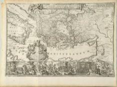 """Landkarte """"De Reysen Christi des Heyland en Pauli met..."""""""