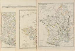 """Landkarten, 4 Stück """"Frankreich"""""""