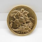 1900 full sovereign excellent condition