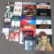 Collection of 1970's 80's and 90' LPs and singles and CDs - Some rare Queen materials including Live