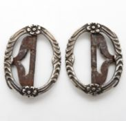 HM set of Georgian silver shoe buckles 20g