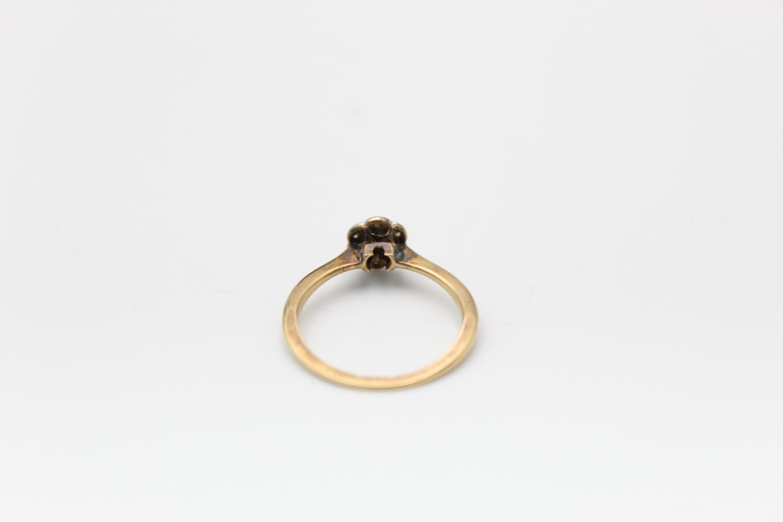 18ct Gold & platinum diamond cluster ring 1.7g Size K - Image 3 of 5