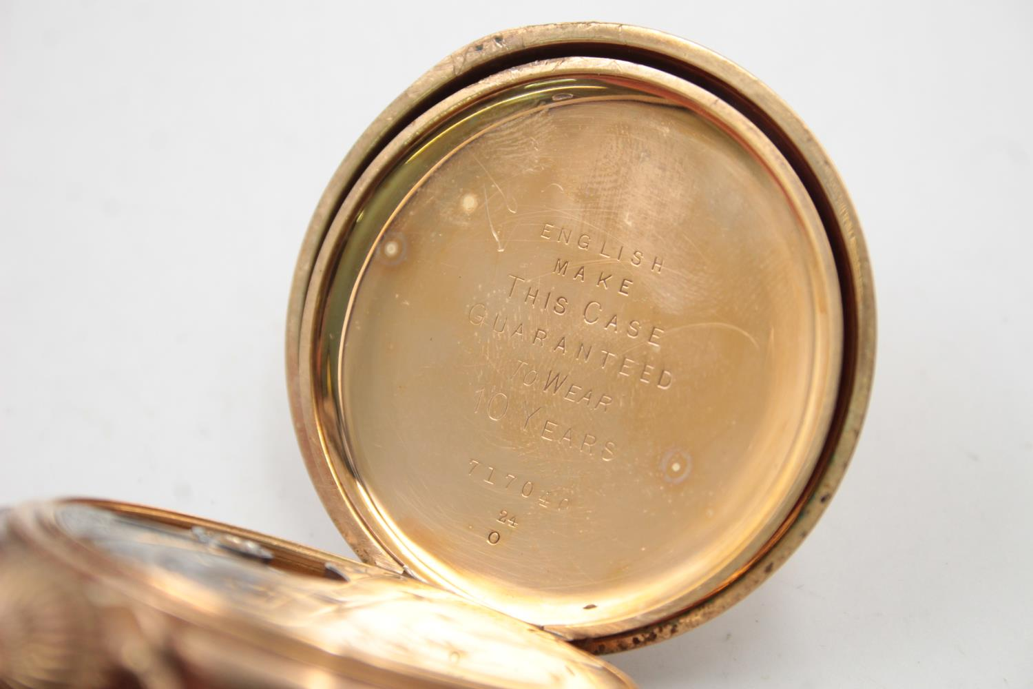 Vintage Gents WALTHAM Rolled Gold Open Face POCKET WATCH Hand-Wind (102g) - Image 5 of 6