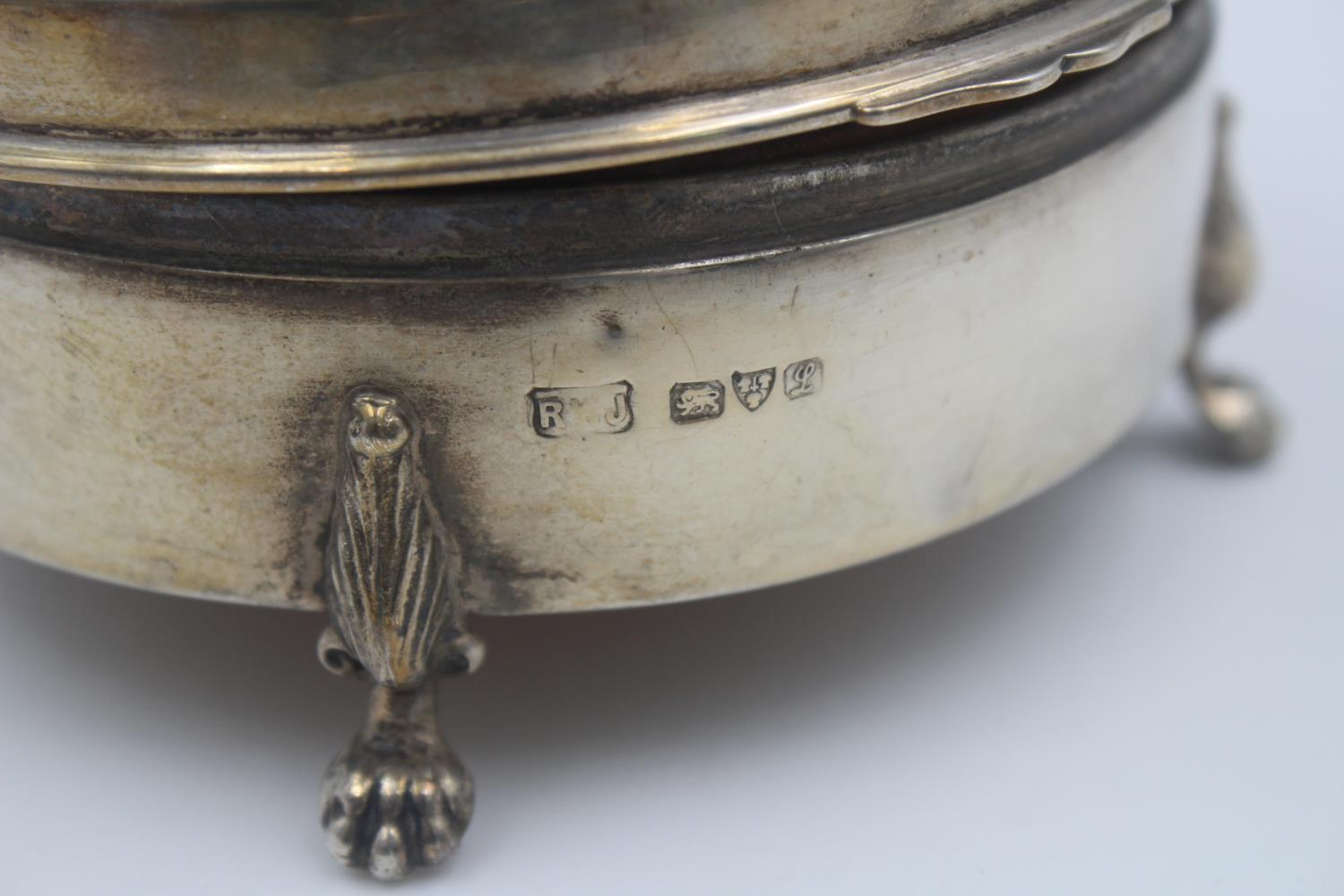 Antique Hallmarked 1912 Chester STERLING SILVER Jewellery / Trinket Box (135g) - Image 3 of 4