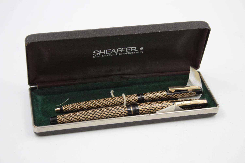 Vintage SHEAFFER Lady Sheaffer FOUNTAIN PEN w/ 14ct Gold Nib, Ballpoint, Box